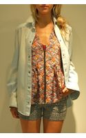 Roseanna Young Bleach Denim Shirt