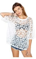 Nasty Gal Dancing with Daisies Tee
