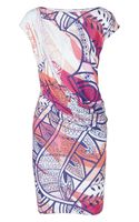 Emilio Pucci Printed Stretchjersey Mini Dress - Lyst