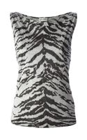 Saint Laurent Tiger Print Vest Top - Lyst