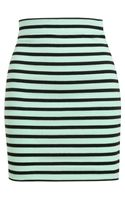 T By Alexander Wang Striped Stretch-cotton Miniskirt - Lyst