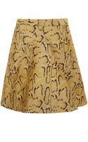 Stella McCartney Yellow Python Print Aline Skirt