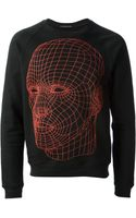 Christopher Kane Contour Map Print Sweatshirt - Lyst