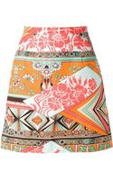 MSGM Printed Mini Skirt - Lyst