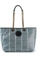 Tory Burch Medium Striped Tote Bag - Lyst