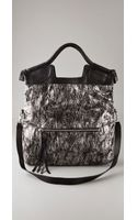 Foley + Corinna Metallic Snake Mid City Tote - Lyst