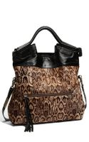 Foley + Corinna Mid City Foldover Calf Hair Tote
