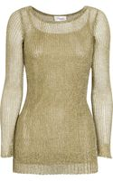 Temperley London Metallic Open-knit Sweater - Lyst