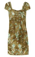 Philosophy di Alberta Ferretti Printed Silk Dress