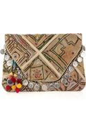 Antik Batik Vintage Embroidered-cotton Clutch