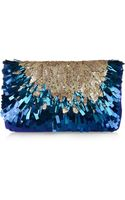 Matthew Williamson Sequined Suede Clutch - Lyst