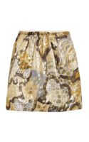 See By Chloé Jacquard Mini Skirt - Lyst