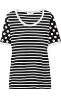 Sonia By Sonia Rykiel Striped Cotton T-shirt - Lyst