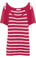 Sonia By Sonia Rykiel Knitted Striped Silk Top - Lyst