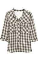 Etoile Isabel Marant Cotton-voile Plaid Shirt