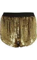Ashish Sequin Disco Shorts