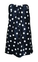Sea Strapless Navy Polka Dress