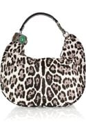 Jimmy Choo Solar Leopard-print Calf Hair Hobo Bag