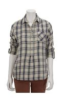 MiH Jeans Worker Shirt in Natural Check