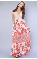 Free People The Ethnic Rose Dress - Lyst