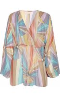 Matthew Williamson Printed Silk-georgette Top