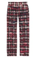 Junya Watanabe Checked Cropped Cotton Pants - Lyst