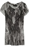 Isabel Marant Feather-print Linen Top - Lyst