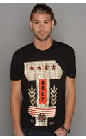 Obey The Hammer Basic Tee In Black - Lyst