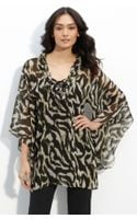 Alberto Makali Sheer Animal Print Tunic - Lyst
