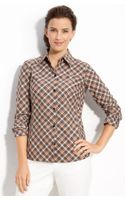 Lafayette 148 New York Sporty Plaid Shirt