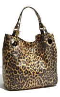 Steven By Steve Madden Candy Coated Leopard Print Faux Leather Tote