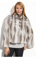 Kristen Blake Crop Faux Fur Jacket