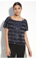 Vince Camuto Sequin Stripe Top