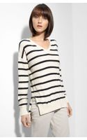 Vince Stripe Slub Knit Sweater