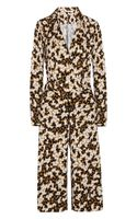Runway To Green Dvf Sanory Silk-jersey Wrap-effect Jumpsuit