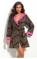 Betsey Johnson Short Hooded Microfleece Robe