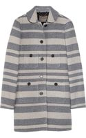 J.Crew Stadium-cloth Striped Wool-blend Coat - Lyst