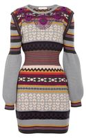 Matthew Williamson Gibb Embellished Wool Dress - Lyst