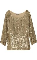 Vince Sequin-embellished Crepe Top