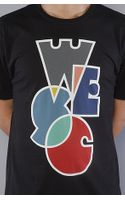 Wesc The Happy Overlay Tee in Black