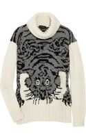 Joseph Tiger-intarsia Wool-blend Sweater - Lyst