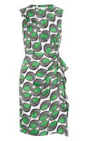 Diane Von Furstenberg Talba Printed Silk Dress - Lyst