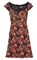 Zac Posen Abstract Printed Jersey Dress