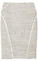 Zac Posen Bouclé-tweed Pencil Skirt