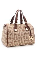 Michael by Michael Kors Medium Grayson Monogram Satchel