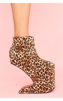 Nasty Gal Magic Leopard Platform - Lyst