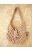 Free People Vintage Macrame Boho Bag