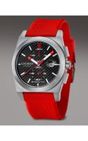 Locman Watches Stealth Chronograph, Red-black