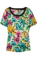 Marc By Marc Jacobs Havana Printed Silk-satin Top