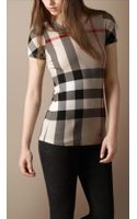 Burberry Brit Check Short Sleeve T-shirt - Lyst